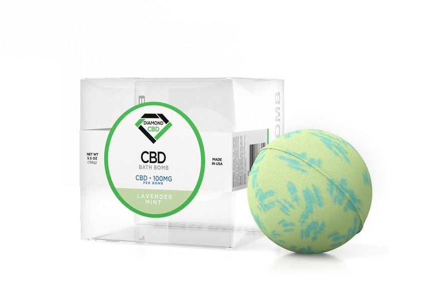 CBD Bath Bomb Lavender Mint on Greenery Map