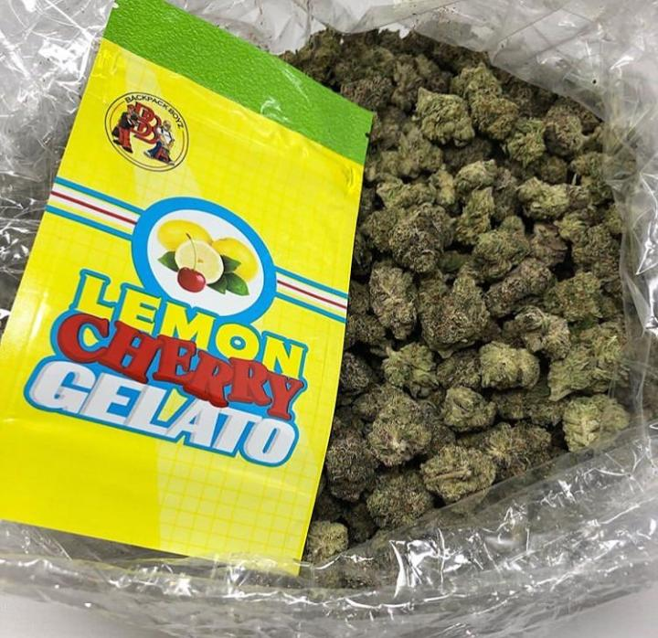Lemon cherry Gelato Cannabis Indica/Sativa Hybrid on Greenery Map